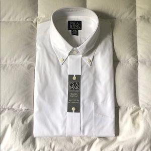 Joseph A. Bank Dress Shirt (White)